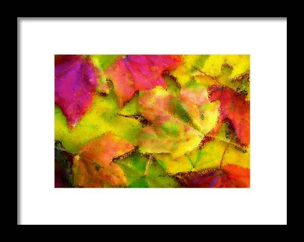 Fall Framed Print featuring the painting Leaves Of Fall by Harry Dusenberg