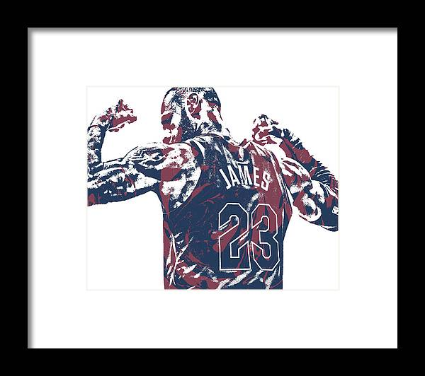 c1fe215a3f2f Lebron James Framed Print featuring the mixed media Lebron James Cleveland  Cavaliers Pixel Art 53 by