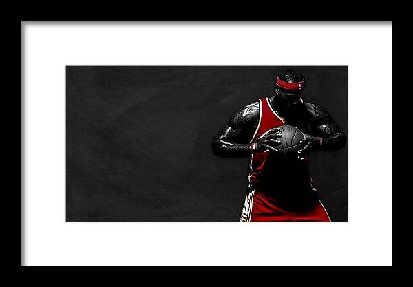 Lebron James Framed Print featuring the photograph Lebron James by Movie Poster Prints