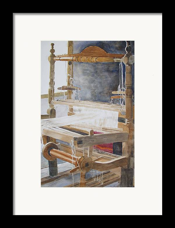 Loom Framed Print featuring the painting Legacy by Ally Benbrook