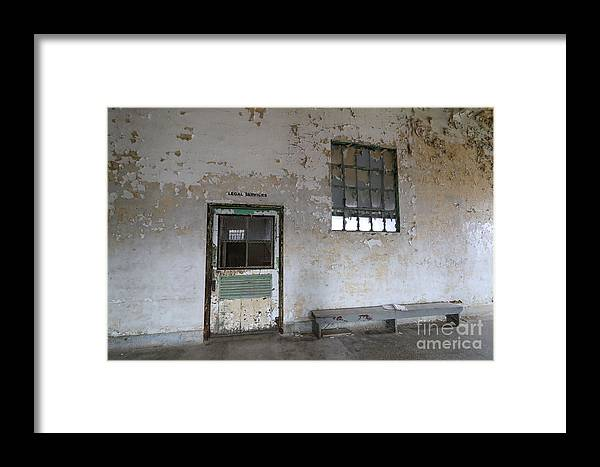 Prison Framed Print featuring the photograph Legal Services by Steve Gass