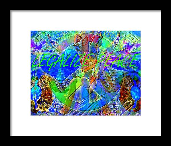 Legalize Framed Print featuring the photograph Legalize Peace by Sue Rosen
