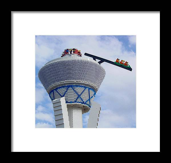 Pat Turner Framed Print featuring the photograph Lego Tower by Pat Turner