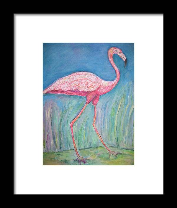 Bird Framed Print featuring the painting Legs by Marlene Robbins