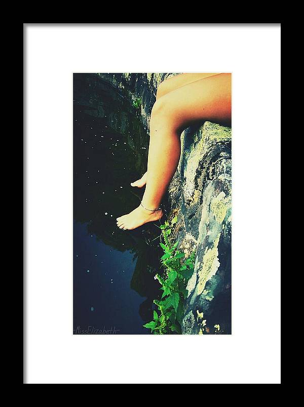 Legs Framed Print featuring the photograph Legs Over Water by Miss Elizabeth Photography