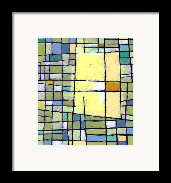 Abstract Framed Print featuring the painting Lemon Squeeze by Douglas Simonson
