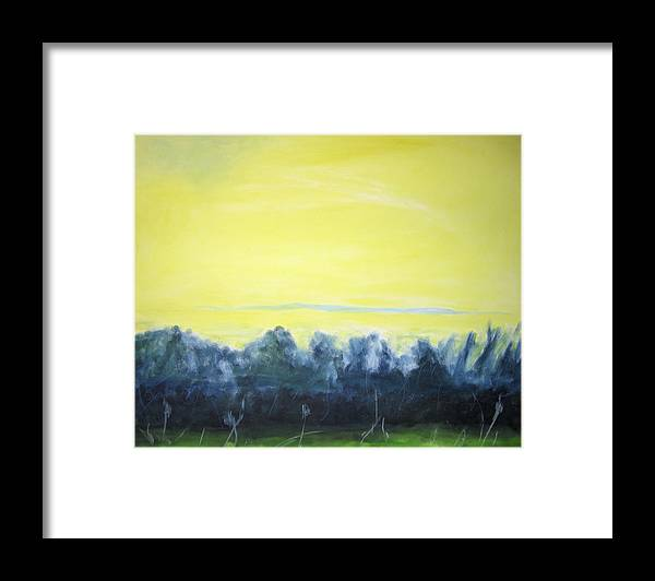 Framed Print featuring the painting Lemon Sunset by Ingrid Torjesen