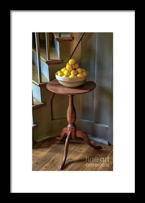 Still Life Framed Print featuring the photograph Lemons by Catherine Balfe