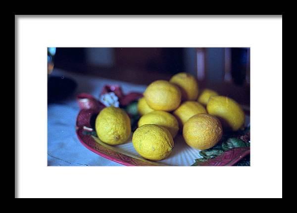 Lemons Framed Print featuring the photograph Lemons by Michael Morrison