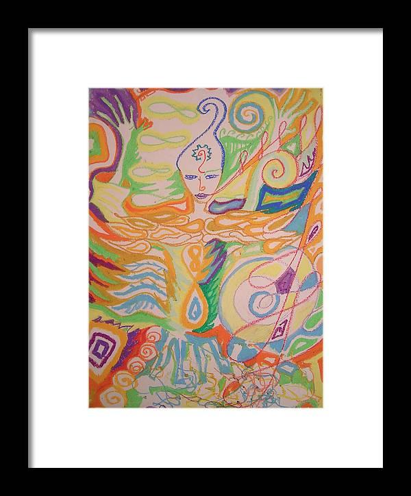 Vibrant Framed Print featuring the pastel Lemurian Dreamer by Jelila