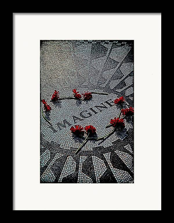 Imagine Framed Print featuring the photograph Lennon Memorial by Chris Lord