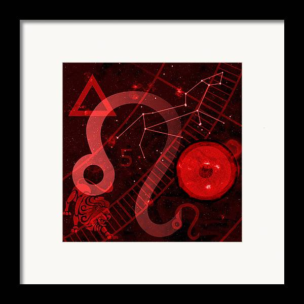 Horoscope Framed Print featuring the digital art Leo by JP Rhea
