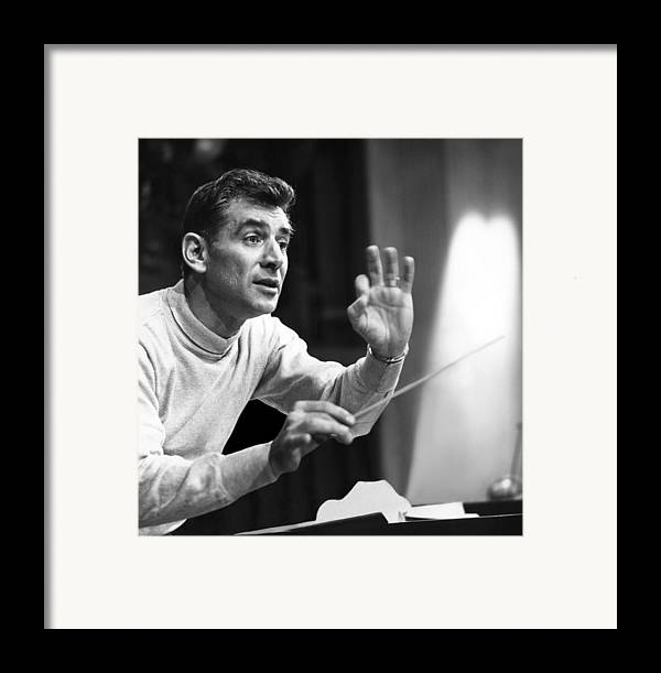 1960s Candids Framed Print featuring the photograph Leonard Bernstein, 1960 by Everett