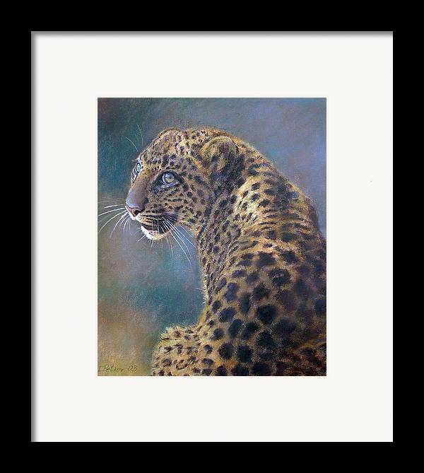 Cats Framed Print featuring the painting Leopard by Iliyan Bozhanov
