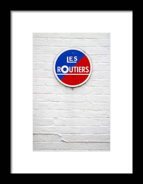 Jez C Self Framed Print featuring the photograph Les Routiers by Jez C Self