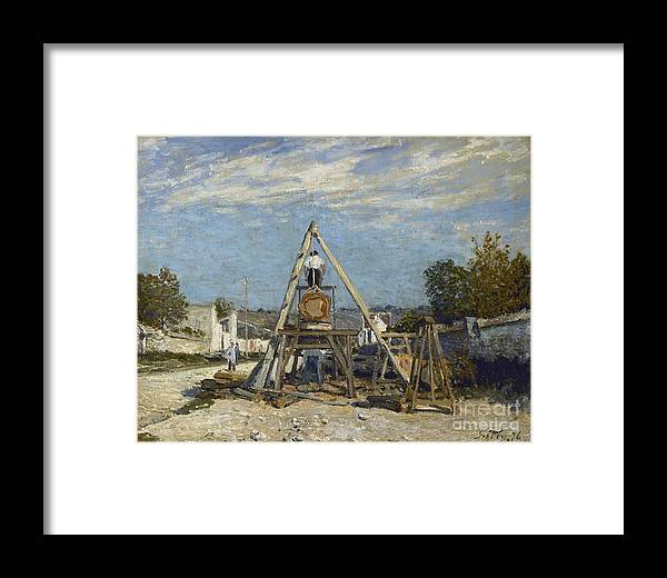 Alfred Sisley (1839-1899). les Scieurs De Long. Paris Framed Print featuring the painting Les Scieurs De Long by MotionAge Designs