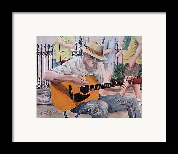 Kevin Callahan Framed Print featuring the painting Let The Good Times Roll-new Orleans Blues by Kevin Callahan
