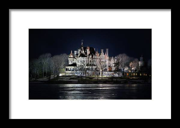 Boldt Castle Framed Print featuring the photograph Let The Light On by Lori Deiter