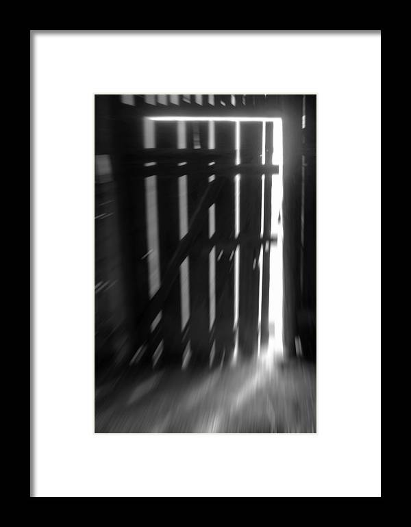 Black And White Framed Print featuring the photograph Let The Sunshine In by AugenWerk Susann Serfezi