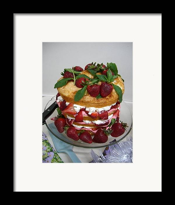 Cake Framed Print featuring the photograph Let Them Eat Cake by Nancy Ferrier