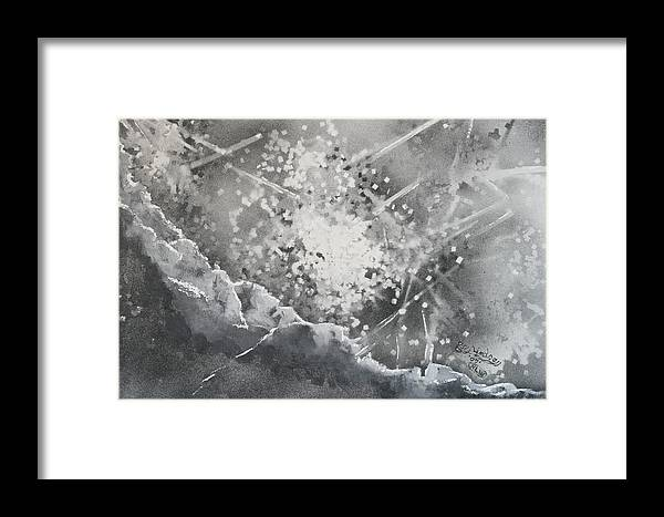 Abstract Framed Print featuring the mixed media Let There Be Light by Roy Woods
