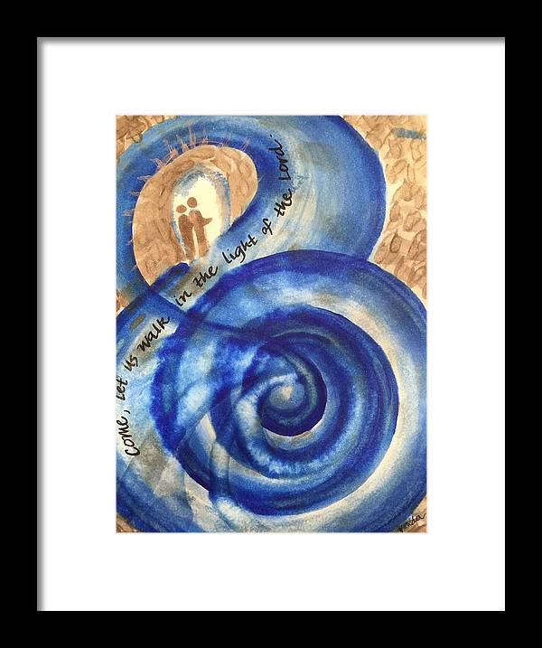 Light Framed Print featuring the painting Let Us Walk in the Light by Vonda Drees