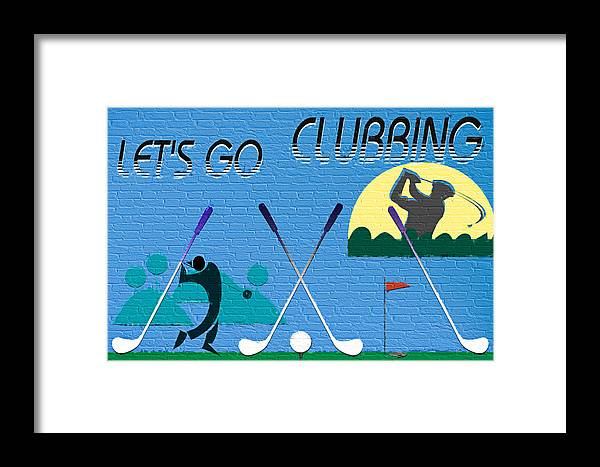 Club Framed Print featuring the digital art Let's Go Clubbing by Steve Ohlsen