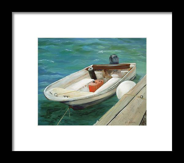 Seascape Framed Print featuring the painting Lets Go Fishing by SueEllen Cowan