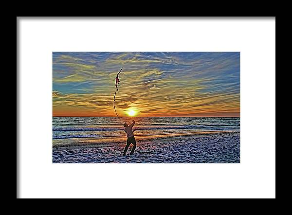 Fly A Kite Framed Print featuring the photograph Let's Go Fly A Kite by HH Photography of Florida