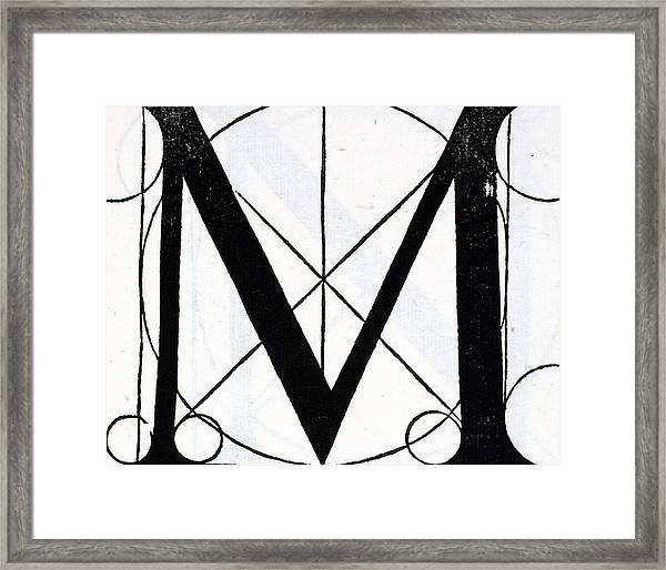 Letter M Framed Print By Leonardo Da Vinci