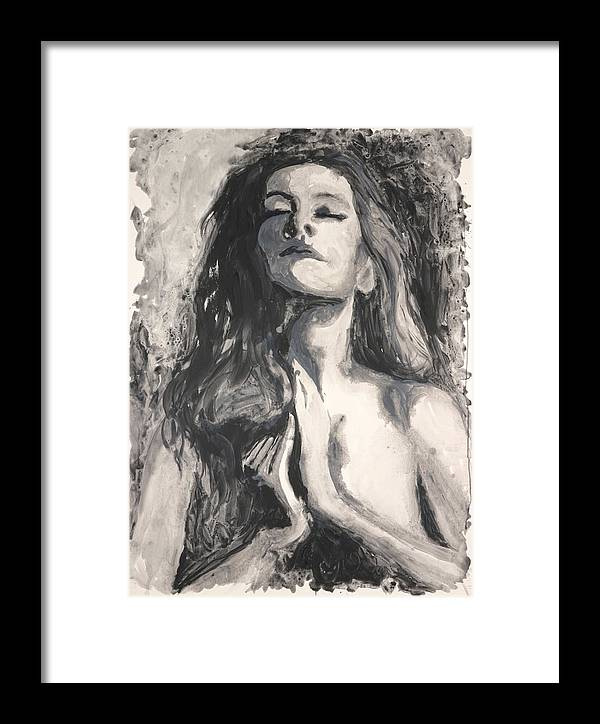 Framed Print featuring the painting Letting Go by Tina Turner