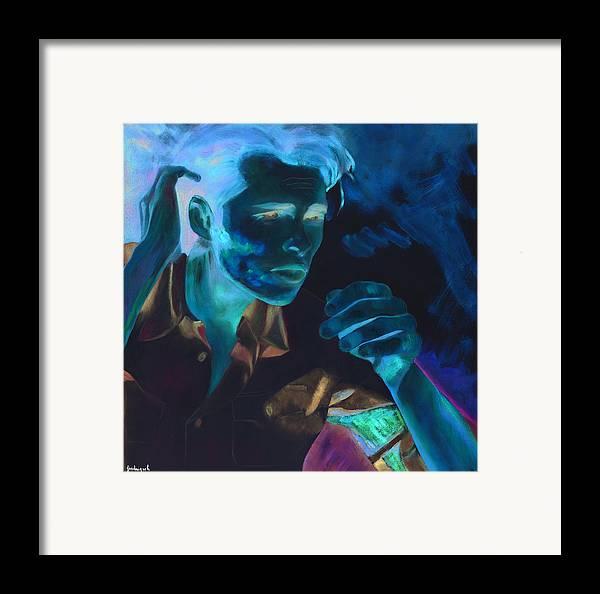Portrait Framed Print featuring the painting Leurre by Krzis-Lorent Frederique