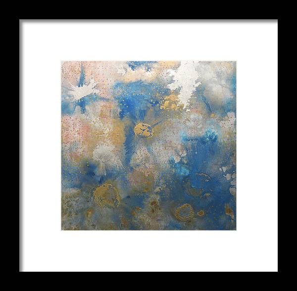 Abstract Framed Print featuring the painting Levels by Kyle Ethan Fischer