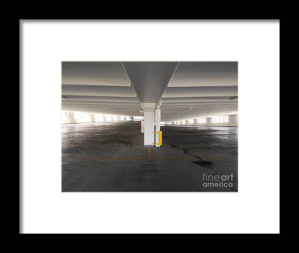 Parking Structure Framed Print featuring the photograph Levels of A Parking Structure by Phil Perkins