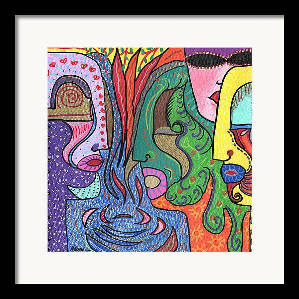Colorful Framed Print featuring the painting Levels by Sharon Nishihara