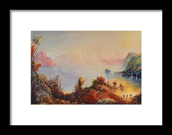 Western Framed Print featuring the painting Lewis And Clark by Richard Barham