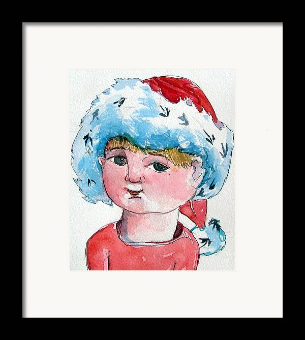 Santa Framed Print featuring the painting Lexi by Mindy Newman