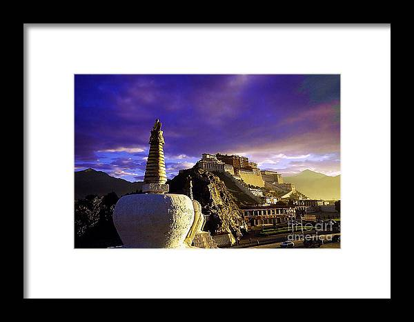 Landscape Framed Print featuring the photograph Lhasa by Dot Xie