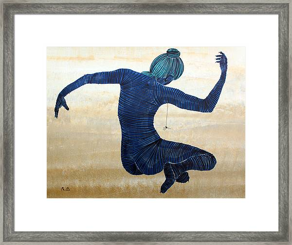 People Framed Print featuring the painting Lib - 174 by Mr Caution
