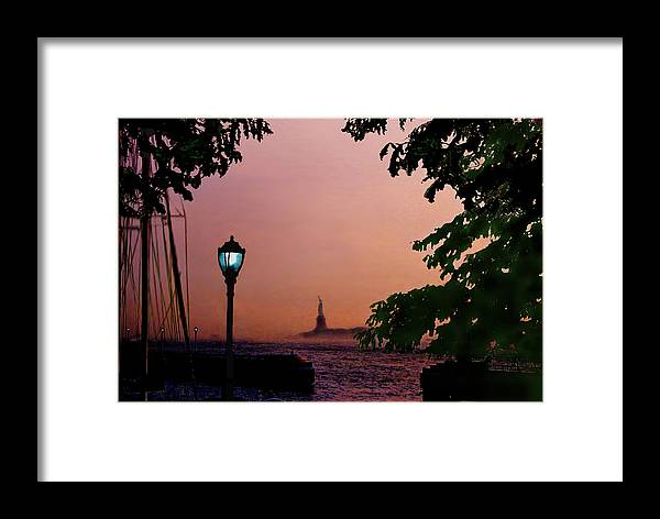 Seascape Framed Print featuring the digital art Liberty Fading Seascape by Steve Karol