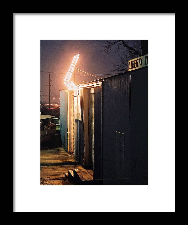 Night Scene Framed Print featuring the photograph Liberty by Steve Karol