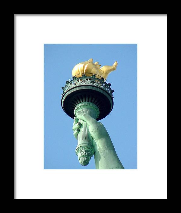 Statue Of Liberty Framed Print featuring the photograph Liberty Torch by Tim Mattox