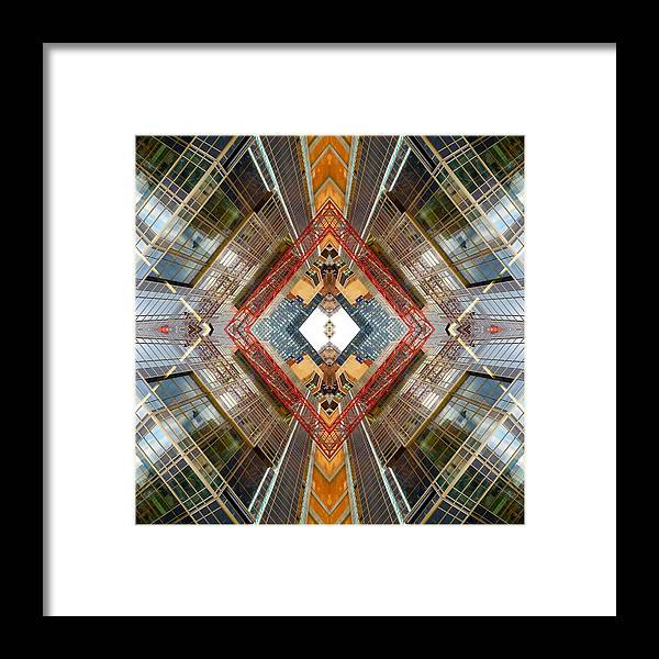 Framed Print featuring the photograph Lic Construction X2 by Franck Hodelin