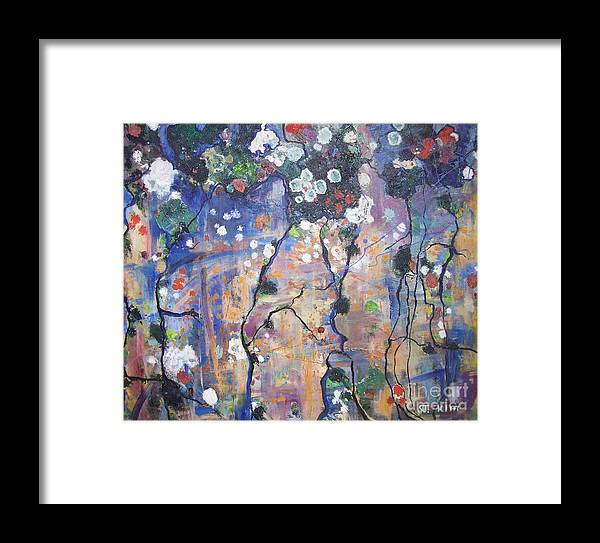 Lichen Paintings Framed Print featuring the painting Lichen by Seon-Jeong Kim