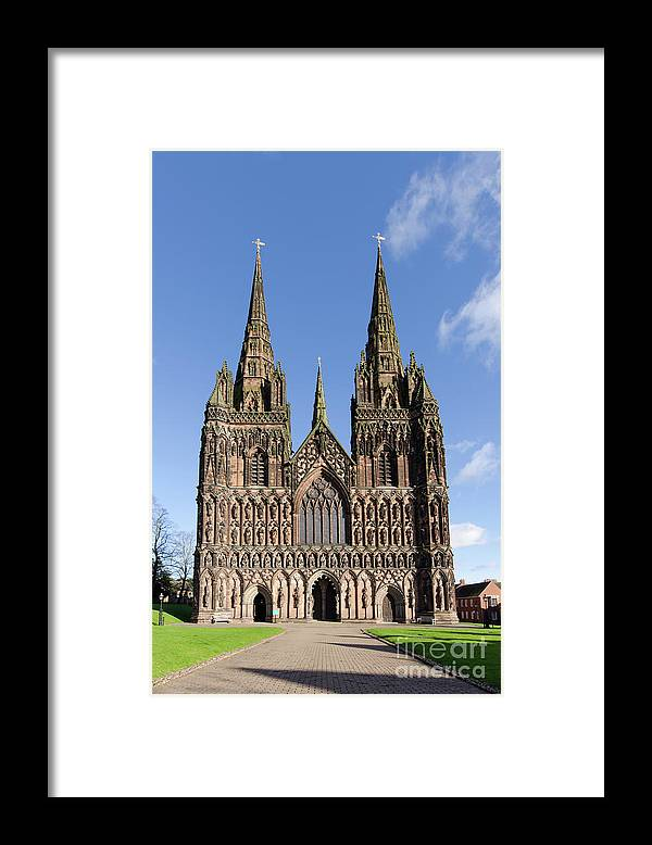 Lichfield Cathedral Framed Print featuring the photograph Lichfield cathedral by Steev Stamford