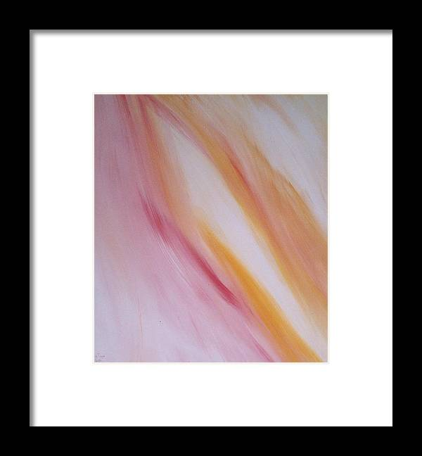 Light Framed Print featuring the painting Lichtbogen by Michael Puya