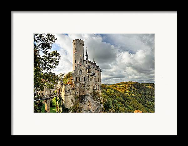 Germany Framed Print featuring the photograph Lichtenstein Castle by Ryan Wyckoff