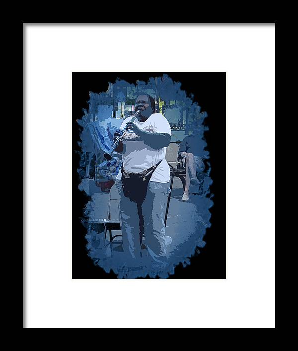 New Orleans Framed Print featuring the photograph Licorice Stick Soul by Linda Kish