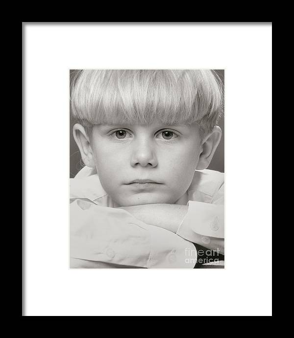 Portrait Framed Print featuring the photograph Lief by Lionel F Stevenson