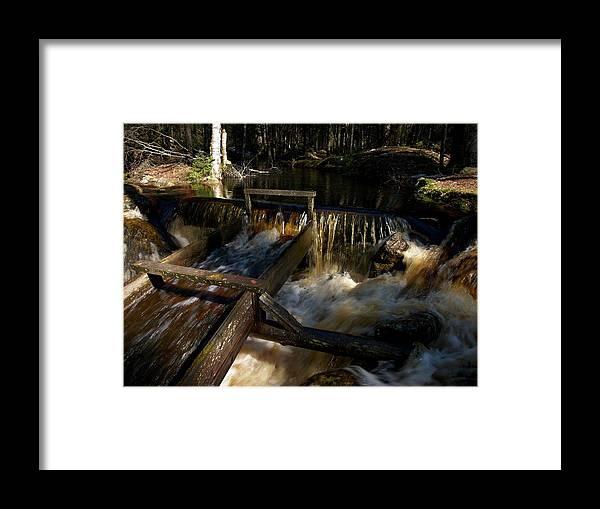 Lehtokukka Framed Print featuring the photograph Liesijoki Mill by Jouko Lehto